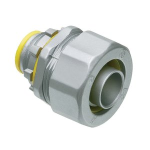 "Arlington LT75A Liquidtight Connector, Straight, Size: 3/4"", Insulated, Zinc Die Cast"