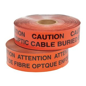 Panduit HTDU6O-FO Underground Detectable Tape, Fiber Optic