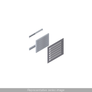 "Hammond Mfg 1481L3R610GY Louvered Vent Kit, NEMA 3R, (6) Louvers, Size: 9 x 10.30"", Steel/Gray"