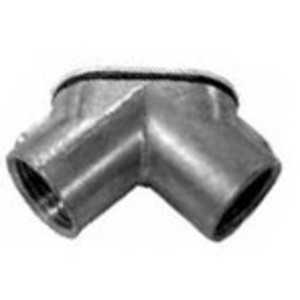 "Appleton HL-500 Pulling Elbow, 90°, Female/Female, 1/2"", Zinc Die Cast"