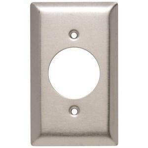 "Pass & Seymour SS720 Power Outlet Wallplate, (1.5938""), 1-Gang, Stainless Steel"