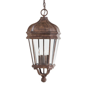 Minka Lighting 8694-61 Hanging Lantern, Outdoor, 4-Light, 40W, Vintage Rust