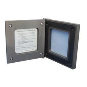 "Exiscan XIR-A-2-H-2 IR Inspection Window 2.25"" x 2.25"", Aluminum Anodized, Powder Coated"
