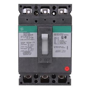 GE Industrial TED136100 Breaker, 100A, 600VAC, 500VDC, 3P, Molded Case, 14kAIC