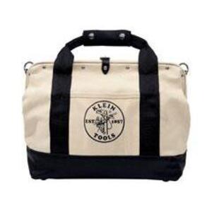 "Klein 5003-20 20"" Canvas Tool Bag, Leather Bottom"
