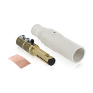Leviton 17D22-W Male, Plug, Cam-Type, Double Set Screw, 350-500 MCM, White