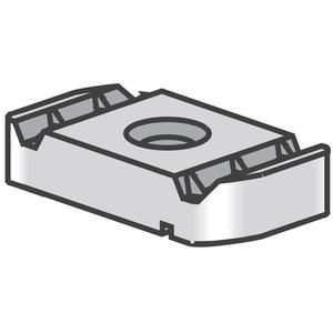 "Power-Strut PSNS-1/4-EG Channel Nut Without Spring, 1/4"", Steel/Electro-Galvanized"
