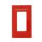 80401-REW RED WALLPLT 1G STD SIZE DEC
