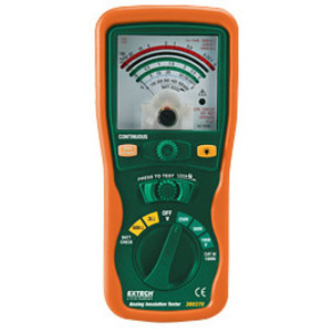 Extech 380320 Insulation Tester, Analog/Manual Ranging