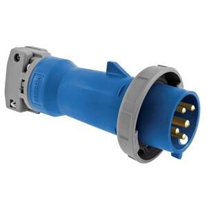 Hubbell-Kellems HBL5100P9W Pin & Sleeve Plug, 100A, 3PH Wye 120/208V, 4P5W, Blue