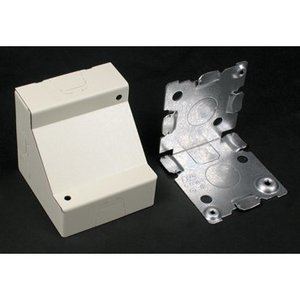 Wiremold 5719WH Stl Corner Box 2 1/2in. Deep White