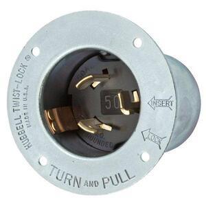 Hubbell-Wiring Kellems HBL3777 LKG FLG-INLT 50A 250VDC/600VAC 2P3W