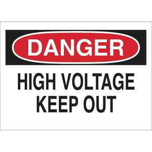 40667 ELECTRICAL HAZARD SIGN