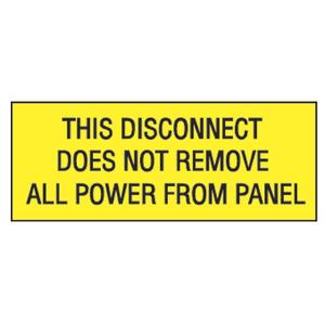 "Panduit PVS0204C178Y Vinyl Adhesive Sign, 2.25""x4.50"", 'This"