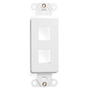 41642W WH DECO 2 PORT WALLPLATE INSERT