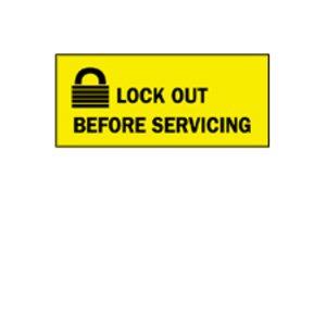 Brady 88302 Lockout Sign