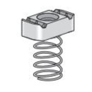 "Power-Strut 10-3/8EG Spring Nut, Type Regular Spring, 3/8"", Steel"