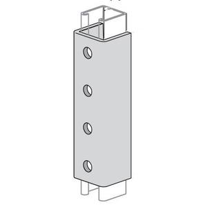 """Power-Strut PS616-GR Splice Clevis, 4-Hole, 7-1/4"""" Length, Green/Steel"""