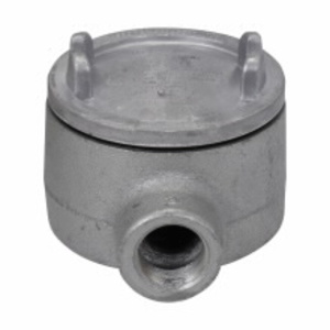 "Cooper Crouse-Hinds GUAB47 Conduit Outlet Box, Type GUAB, (2) 1-1/4"" Hubs, Malleable Iron"