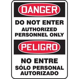 """Panduit PRS1410D5142 14.00"""" x 10.00"""" Danger, DO NOT ENT AUT.B *** Discontinued ***"""
