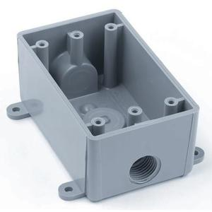 Carlon E381D-CAR Weatherproof Outlet Box, 1-Gang, Non-Metallic