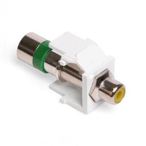 Leviton 40782-RYW RCA Compression Connector, RG6 Quad, Yellow