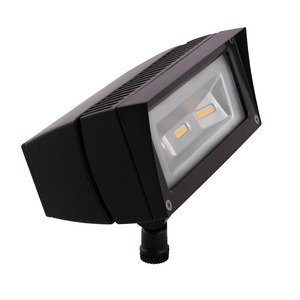 RAB FFLED18 Flood Light, LED, 1-Light, 18W, 120-277V, Bronze