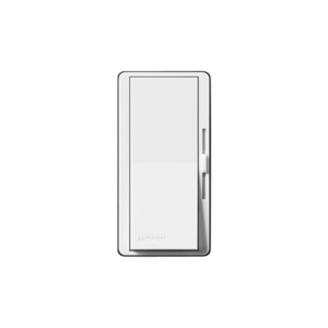 Lutron DV-603P-WH Slide Dimmer, Decora, 600W, 3-Way, Diva, White
