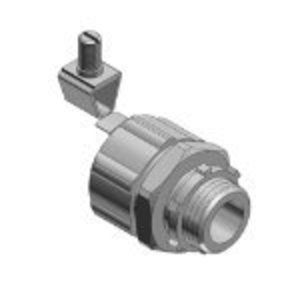 "Thomas & Betts 5233ALGR Liquidtight Grounding Connector, Straight, Size: 3/4"", Aluminum"