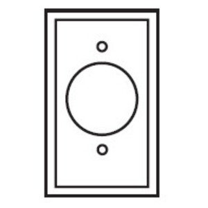 "Eaton Wiring Devices PJ7W Single Receptacle Wallplate, 1-Gang, 1.406"" Hole, Nylon, White, Midway *** Discontinued ***"