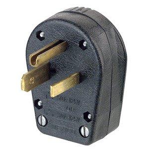 Leviton 930 30/50 Amp Angle Plug, 125V, 5-30P/5-50P, Grounding