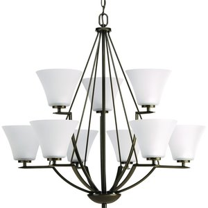Progress Lighting P4625-20W 9-Lt., 2-tier chandelier