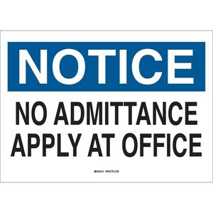 40713 ADMITTANCE SIGN