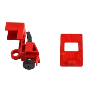 Brady 103581 Breaker, Lock-Out, Clamp On, Red, 120/277VAC, Thumbscrew