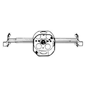 """Steel City 54151-J-1/2 4"""" Ceiling Fan Box With Hanger, 1-1/2"""" Deep, Drawn, 1/2"""" KOs, Steel"""