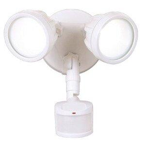 All-Pro Lighting MST18R17LW LED Floodlight, Twin Head, 180° Motion Sensor