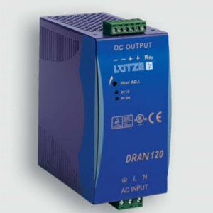 Lutze 722758 Single-Phase Power Supply, DRAN120-24B