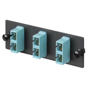 Panduit FAP3WAQDSCZ Adapter Plate, 6 Fibers, Aqua