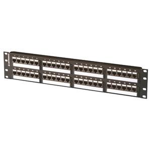 """Ortronics SP6U48 Patch Panel, Cat 6, 48 Port, 2 Unit Height, 19"""" Width"""