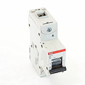 ABB S801U-K60 Circuit Breaker, Miniature, DIN Rail Mount, 60A, 1P, 240VAC