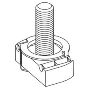 Eaton B-Line STN228-11/4ZN STUD TWIRL NUT, 3/8-IN.-16 THREAD SIZE, 3/8-IN. NUT, 1 1/4-IN. STUD