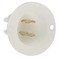 ML2-PB WHITE INL PLUG MID LK GND 15A125V
