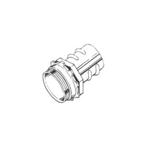 "Hubbell-Raco 2282 Screw-In Connector, 1/2"", Zinc Die Cast"