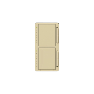 Lutron MA-L3L3-IV Dual Dimmer, Incandescent, Meastro, Ivory