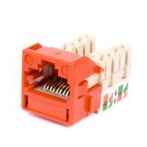 Commscope CC0020834/1 Snap In Connector, Uniprise, UNJ600, Cat 6, U/UTP, Outlet, Orange