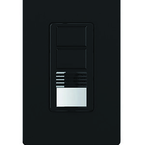 Lutron MS-A202-BL Occupancy Sensor Switch, Dual-Circuit, Black