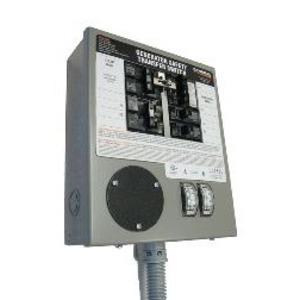 Generac 6376 Manual Transfer Switch, 30A, 125/250VAC, 10 Circuit, L14-30R, NEMA 1. *** Discontinued, See Item  A310A ***
