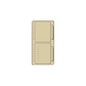 Lutron MA-L3T251-IV Dual Dimmer/Timer Switch, Decora, Meastro, Ivory