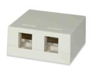 Signamax SMKL2WH 2-Port Surface Mount Multimedia Box, White