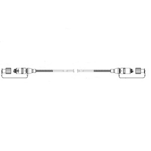 Stran Technologies 950-0536-40-3 GENX Plug to Plug Armored Assembly, 130'